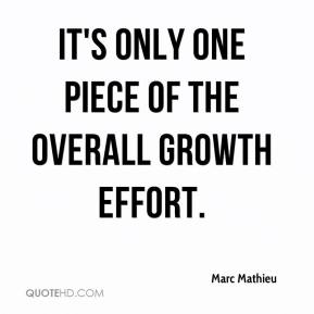 Marc Mathieu  - It's only one piece of the overall growth effort.
