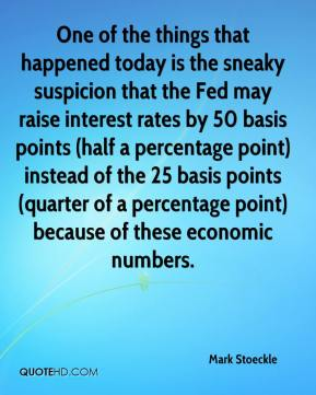 Mark Stoeckle  - One of the things that happened today is the sneaky suspicion that the Fed may raise interest rates by 50 basis points (half a percentage point) instead of the 25 basis points (quarter of a percentage point) because of these economic numbers.