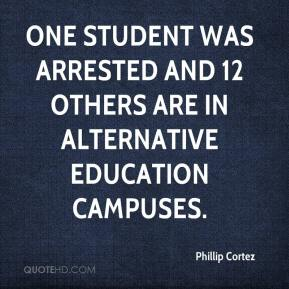 Phillip Cortez  - One student was arrested and 12 others are in alternative education campuses.