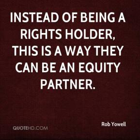 Instead of being a rights holder, this is a way they can be an equity partner.