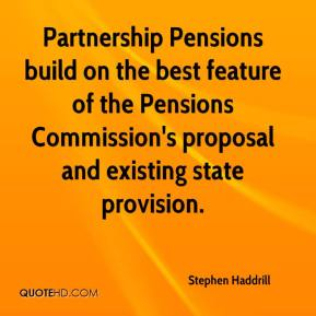 Partnership Pensions build on the best feature of the Pensions Commission's proposal and existing state provision.