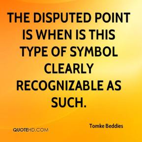 Tomke Beddies  - The disputed point is when is this type of symbol clearly recognizable as such.
