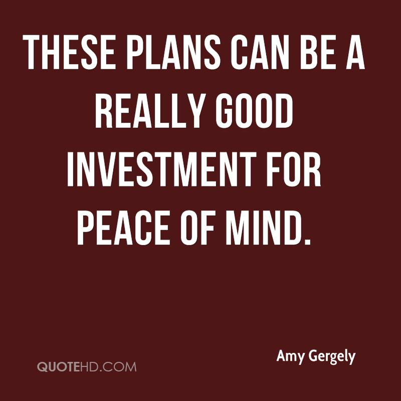 These plans can be a really good investment for peace of mind.