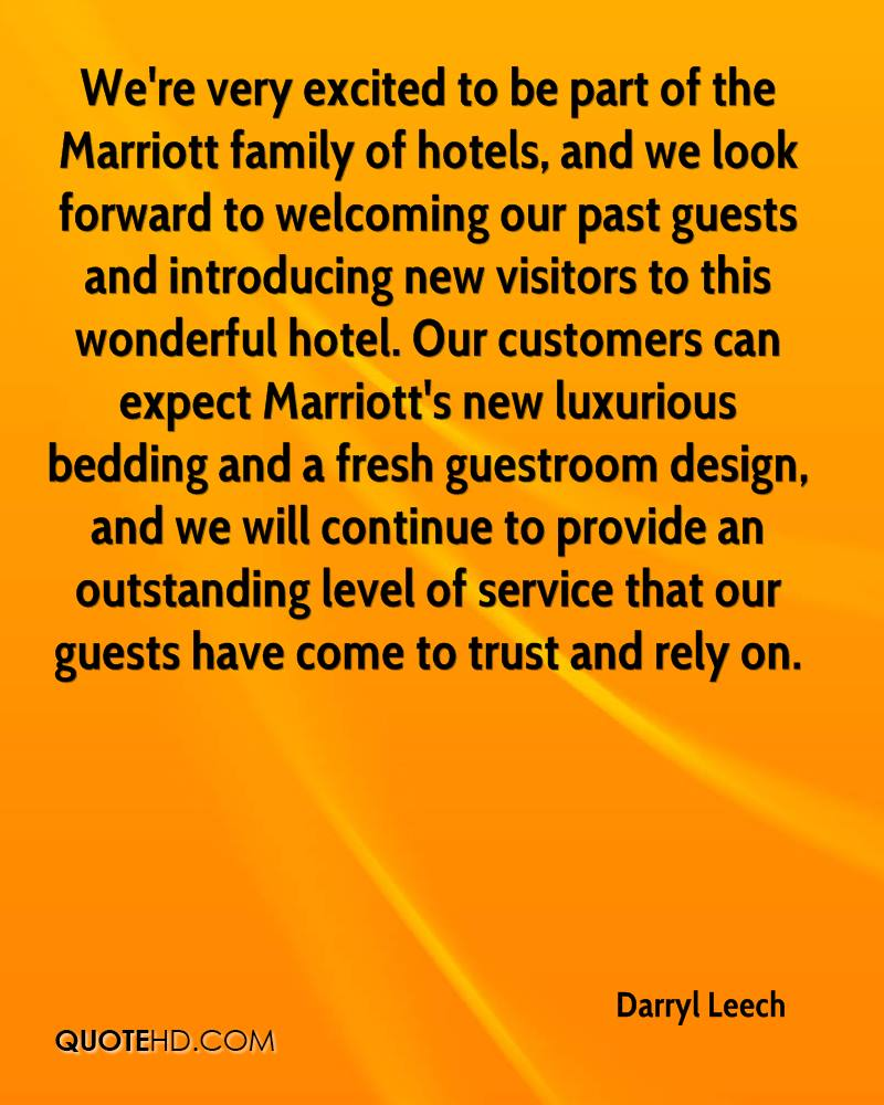 We Re Very Excited To Be Part Of The Marriott Family Hotels And