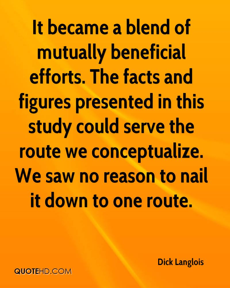 It became a blend of mutually beneficial efforts. The facts and figures presented in this study could serve the route we conceptualize. We saw no reason to nail it down to one route.
