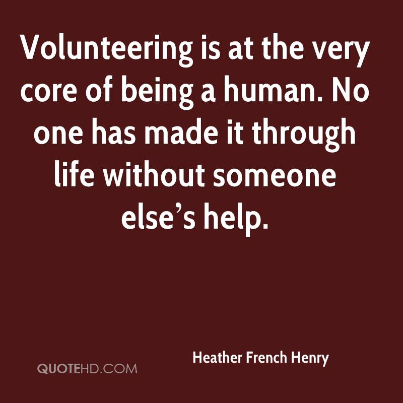 Quotes On Volunteering Classy Heather French Henry Quotes  Quotehd