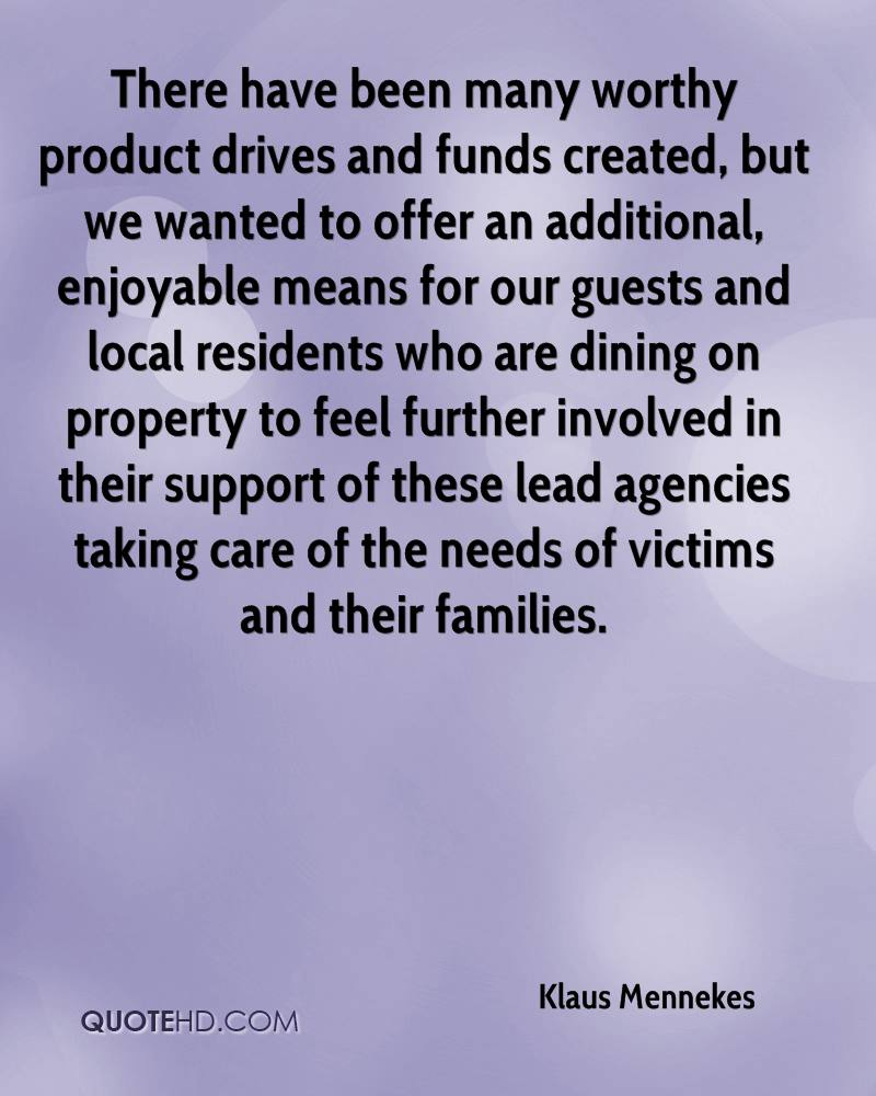 There have been many worthy product drives and funds created, but we wanted to offer an additional, enjoyable means for our guests and local residents who are dining on property to feel further involved in their support of these lead agencies taking care of the needs of victims and their families.