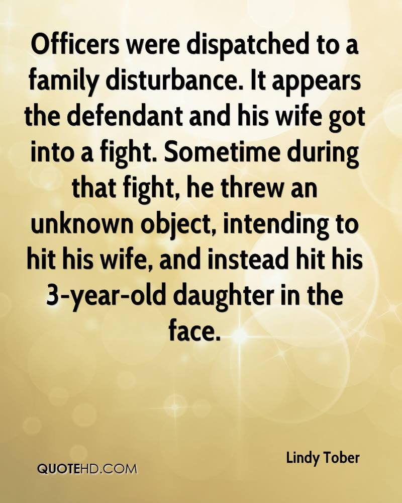 Officers were dispatched to a family disturbance. It appears the defendant and his wife got into a fight. Sometime during that fight, he threw an unknown object, intending to hit his wife, and instead hit his 3-year-old daughter in the face.