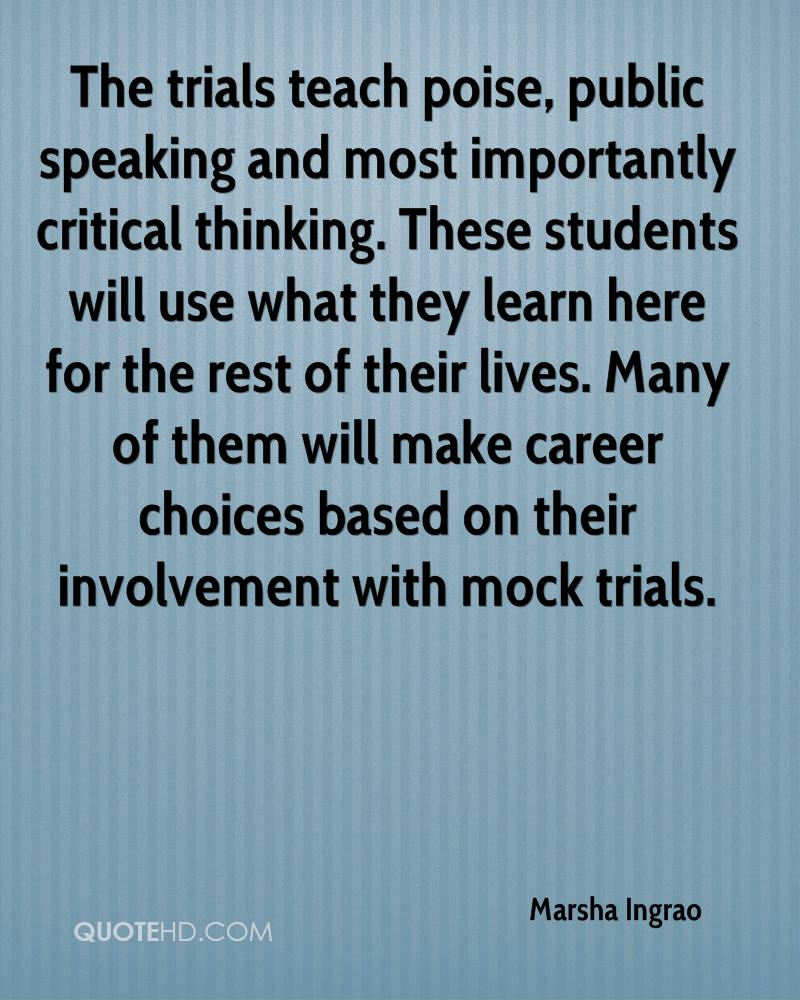 Quotes About Critical Thinking Marsha Ingrao Quotes  Quotehd