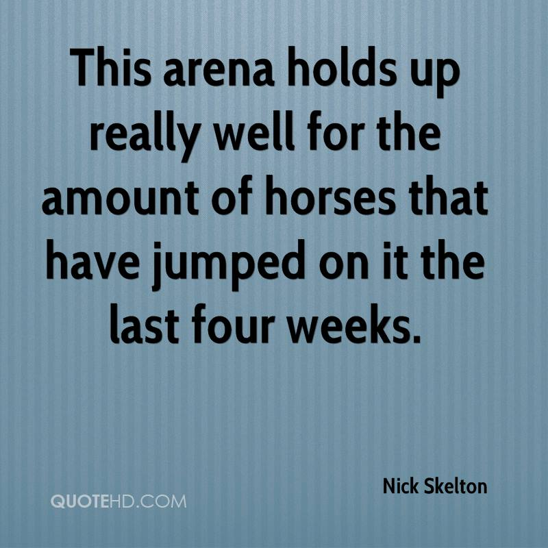 This arena holds up really well for the amount of horses that have jumped on it the last four weeks.
