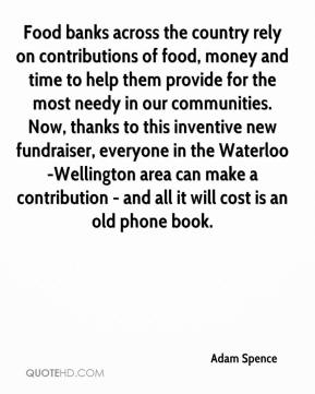 Adam Spence - Food banks across the country rely on contributions of food, money and time to help them provide for the most needy in our communities. Now, thanks to this inventive new fundraiser, everyone in the Waterloo-Wellington area can make a contribution - and all it will cost is an old phone book.