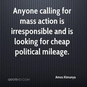 Amos Kimunya - Anyone calling for mass action is irresponsible and is looking for cheap political mileage.