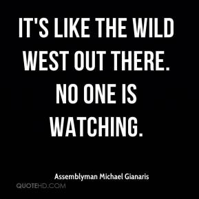 Assemblyman Michael Gianaris - It's like the Wild West out there. No one is watching.