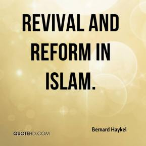 Revival and Reform in Islam.