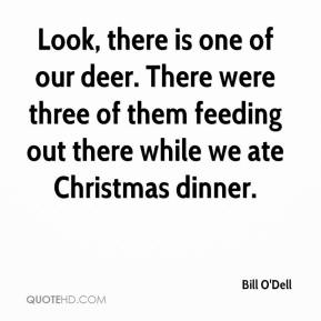 Bill O'Dell - Look, there is one of our deer. There were three of them feeding out there while we ate Christmas dinner.