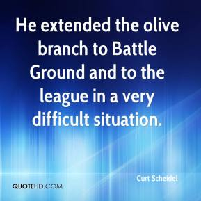 Curt Scheidel - He extended the olive branch to Battle Ground and to the league in a very difficult situation.