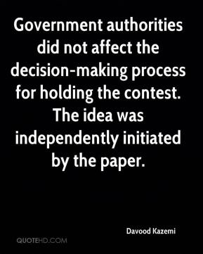 Government authorities did not affect the decision-making process for holding the contest. The idea was independently initiated by the paper.