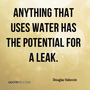 Douglas Valovcin - Anything that uses water has the potential for a leak.