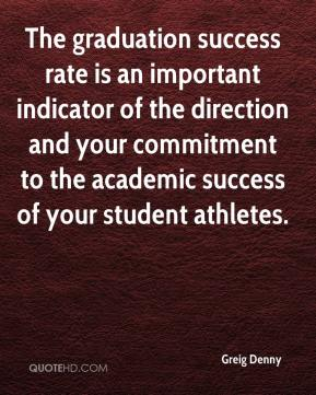 The graduation success rate is an important indicator of the direction and your commitment to the academic success of your student athletes.