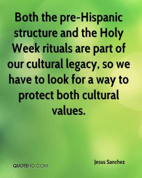 Jesus Sanchez  - Both the pre-Hispanic structure and the Holy Week rituals are part of our cultural legacy, so we have to look for a way to protect both cultural values.