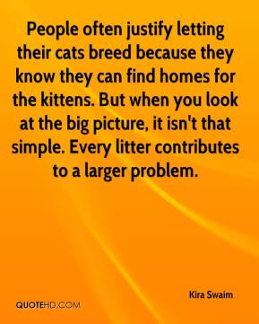 Kira Swaim  - People often justify letting their cats breed because they know they can find homes for the kittens. But when you look at the big picture, it isn't that simple. Every litter contributes to a larger problem.