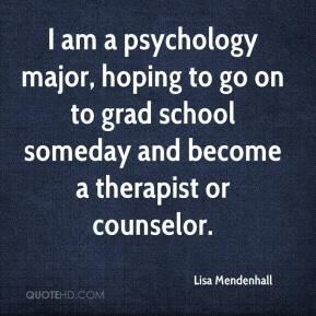 Lisa Mendenhall  - I am a psychology major, hoping to go on to grad school someday and become a therapist or counselor.