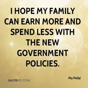 Ma Peilai  - I hope my family can earn more and spend less with the new government policies.