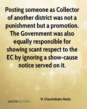 Posting someone as Collector of another district was not a punishment but a promotion. The Government was also equally responsible for showing scant respect to the EC by ignoring a show-cause notice served on it.