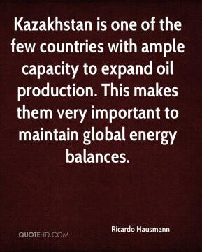 Kazakhstan is one of the few countries with ample capacity to expand oil production. This makes them very important to maintain global energy balances.