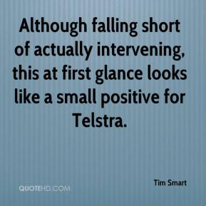 Although falling short of actually intervening, this at first glance looks like a small positive for Telstra.