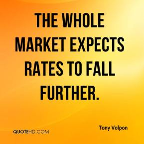 Tony Volpon  - The whole market expects rates to fall further.
