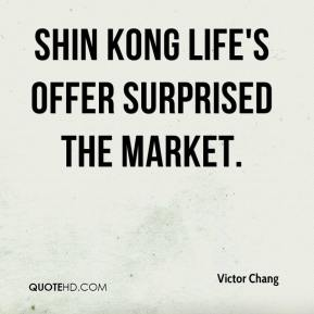 Shin Kong Life's offer surprised the market.