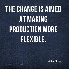 The change is aimed at making production more flexible.