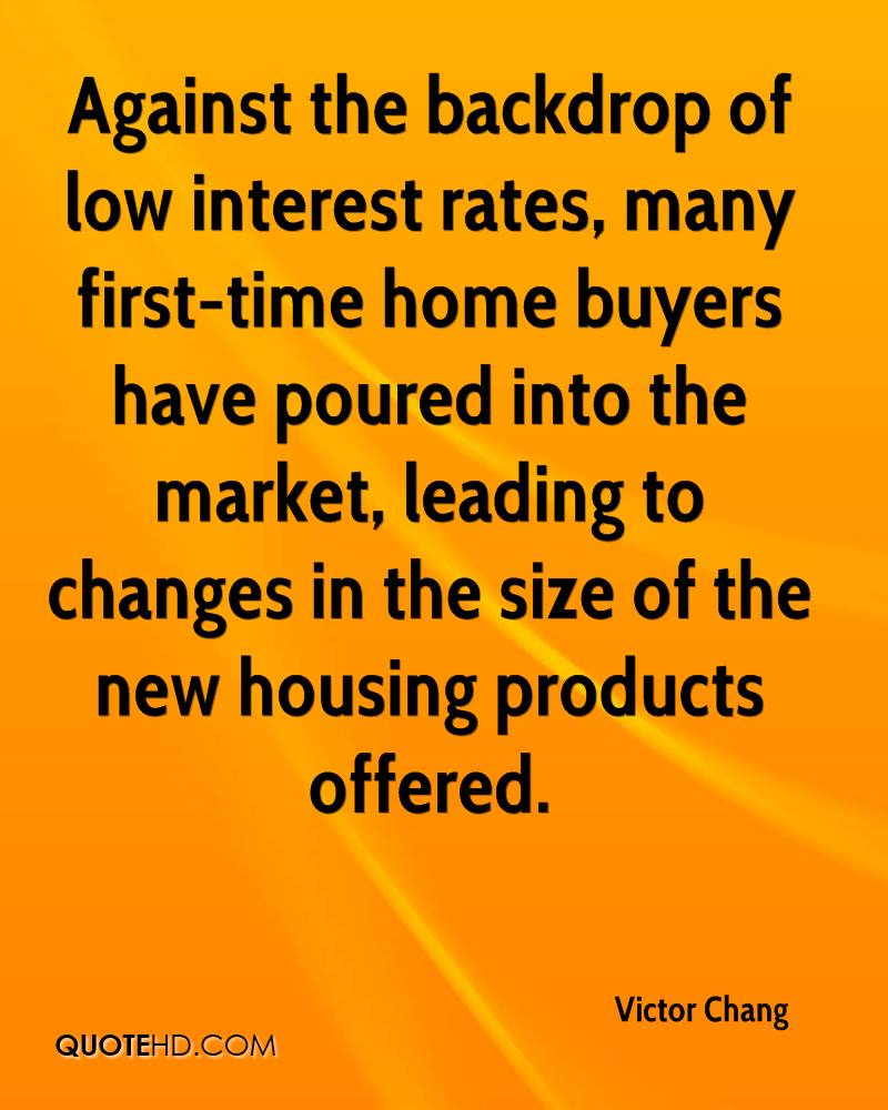 Against the backdrop of low interest rates, many first-time home buyers have poured into the market, leading to changes in the size of the new housing products offered.