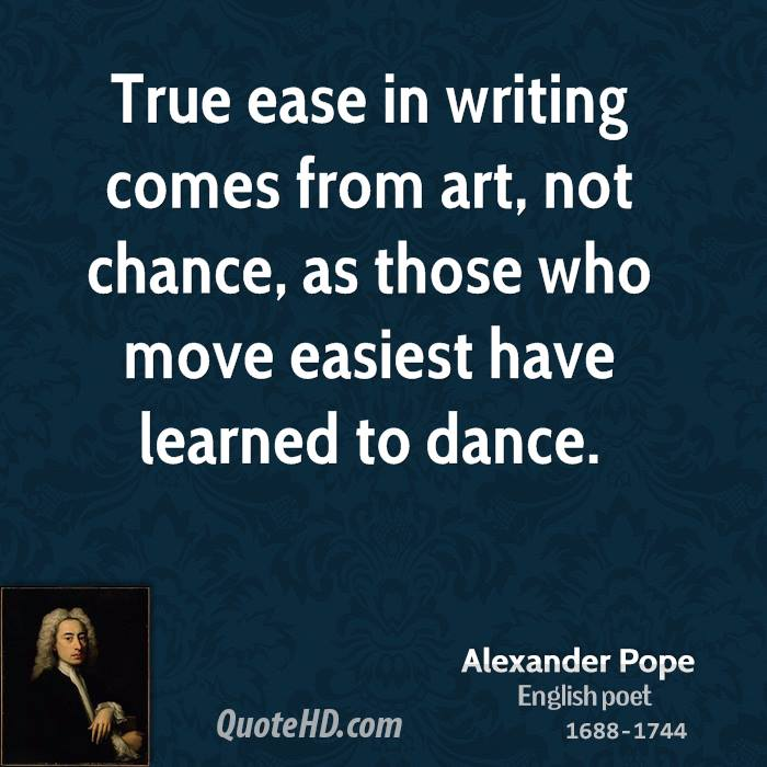 Alexander pope writing style