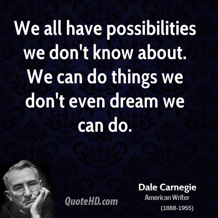 We Fear What We Don T Understand Quote: Dale Carnegie Quotes