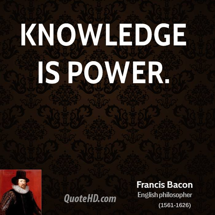 Francis Bacon Power Quotes QuoteHD Magnificent Knowledge Is Power Quote