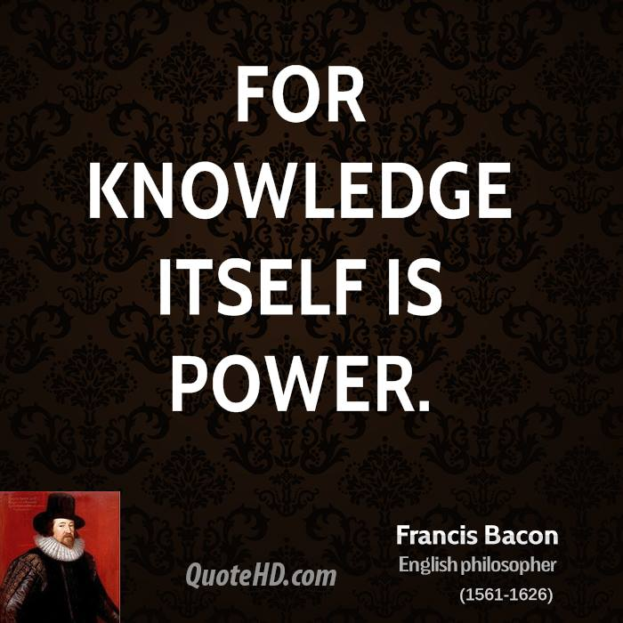 Francis Bacon Quotes QuoteHD Impressive Knowledge Is Power Quote