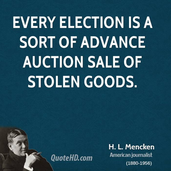 Quote By Hl Mencken: Restraining Government In America