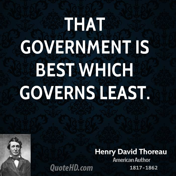 Government Quotes: Henry David Thoreau Government Quotes