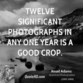Twelve significant photographs in any one year is a good crop.