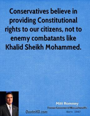 Constitutional rights of unlawful enemy combatants