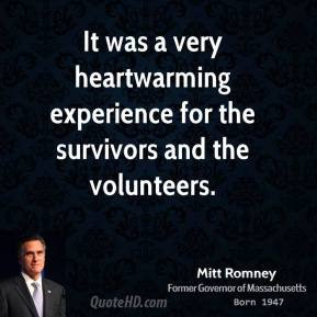 It was a very heartwarming experience for the survivors and the volunteers.