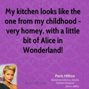My kitchen looks like the one from my childhood - very homey, with a little bit of Alice in Wonderland!
