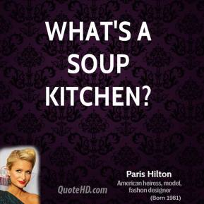 What's a soup kitchen?