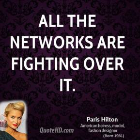 All the networks are fighting over it.