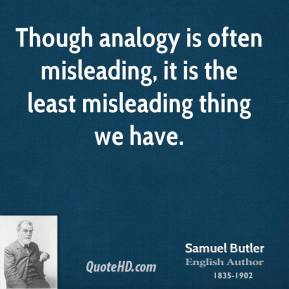 Though analogy is often misleading, it is the least misleading thing we have.