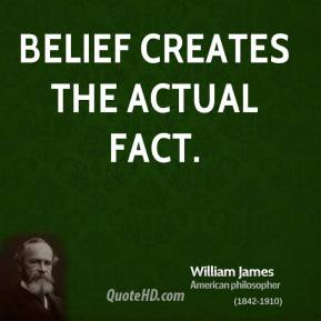 Belief creates the actual fact.