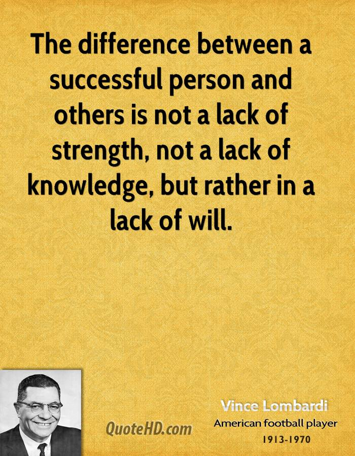 Vince t lombardi quotes