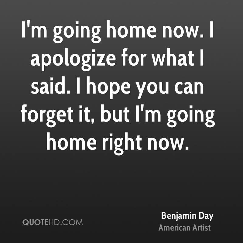 I Am Going Home Quotes